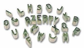 英文字母切模 (26個字母) - 高品質    品牌: 西德 Triangle