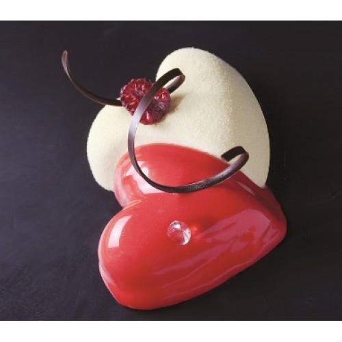 Interlacing Hearts 交心矽膠烤模  烤盤尺寸: 600 x 400 mm, 產品尺寸: 120 x 113 x 35 mm (200 ml) x 8個  運費另加150元