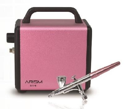 迷你型空氣壓縮機/噴筆組 - 粉紅色   / 附MH巧克力PC模一片