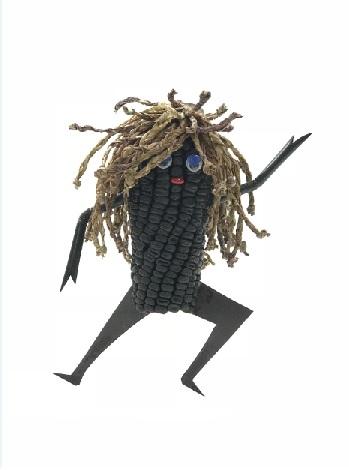 嘻哈舞者 - 玉米雕 + 透明防護罩