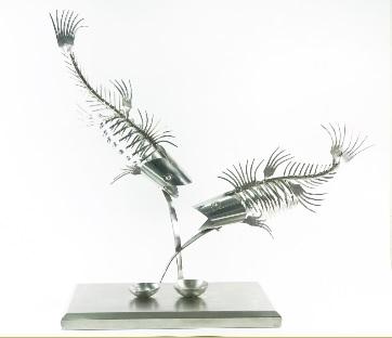 雙魚 -- 西餐刀金屬雕