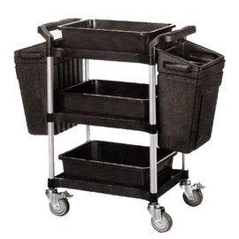 三層污餐盤回收車(全配) /尺寸:100x44x94 cm  運費250元