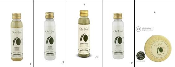 Detercom (義大利)頂級 橄欖精華 潔淨用品旅行組 (5件)