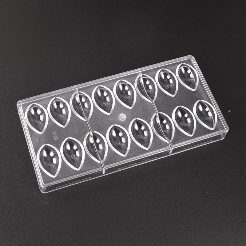 巧克力模 - 尖丸型 / 水滴型  (16連硬膜)  L 45 x 25 x H 12 mm  / 廠牌Tangba
