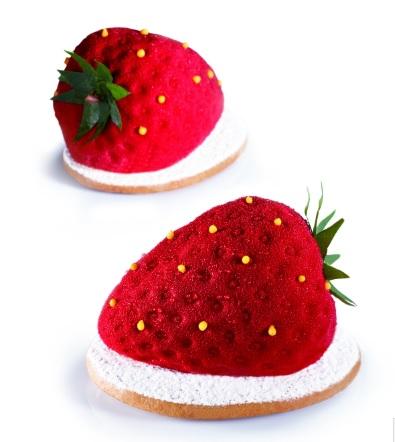 水果造型模具 - 草莓  77 x 54 x 46 mm , 90ml