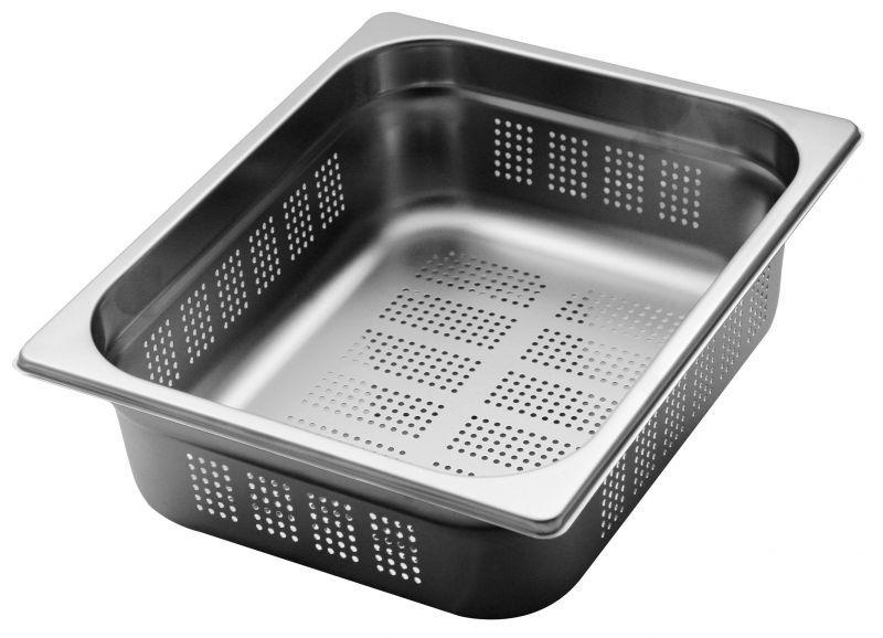 1/2打洞食物調理盆 (SUS304) / 尺寸:325X264X100 mm   / Super A ( 中國製)