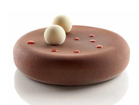 圓型盤 + 蓋環 ( 廠牌 Silikomart) 尺寸: Dim 180  x H45 mm