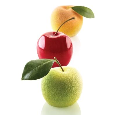 5連蘋果.莓果.梨子矽膠模   / 直徑60 x h55
