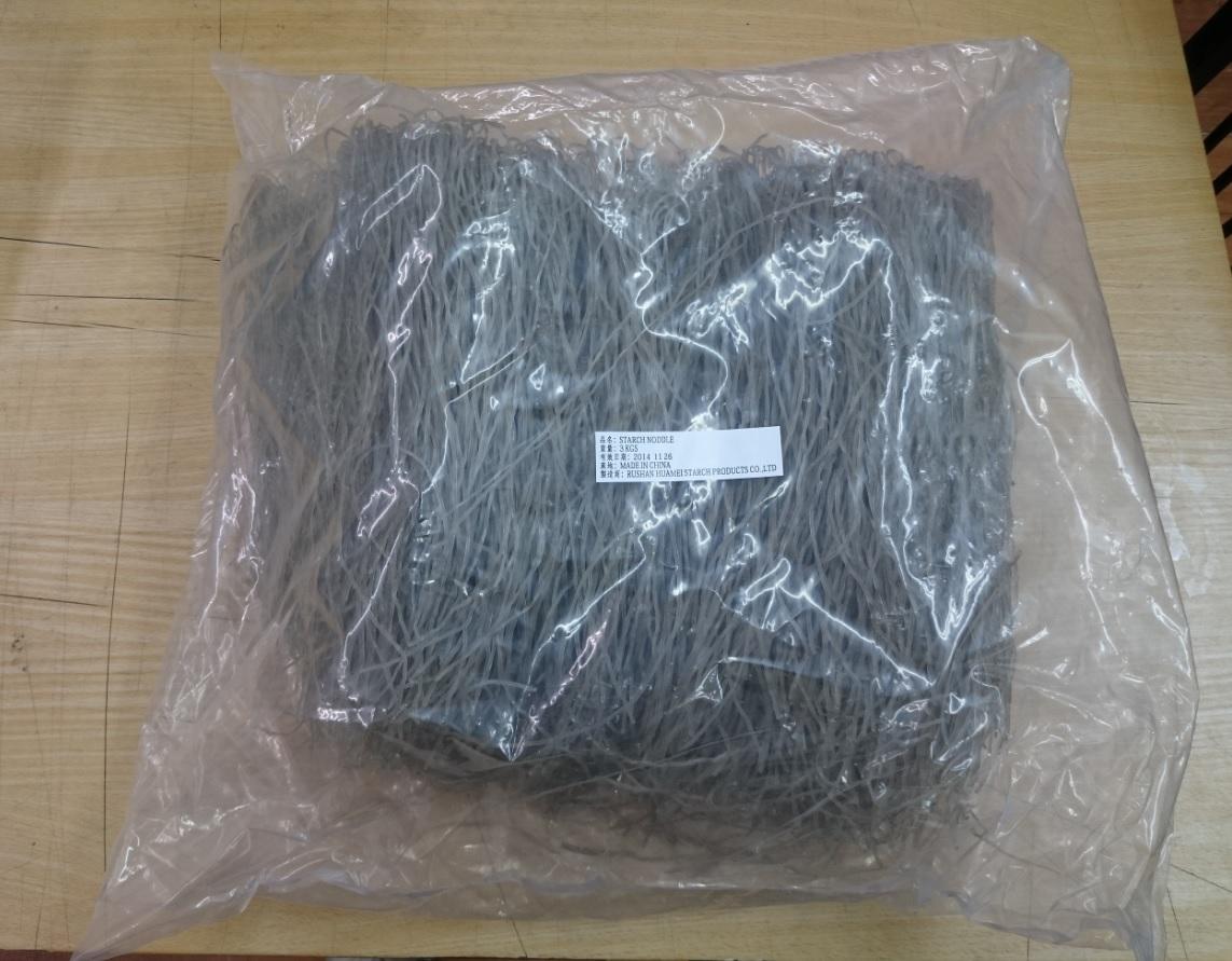 地瓜粉絲 (3公斤) 細--100% 純地瓜粉製造  --- 營業包裝 / 基本訂量5包 (運費150元)